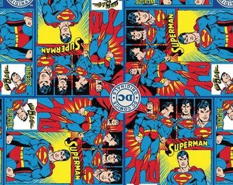 Superman Fabric DC Comics Fabric FLANNEL From Camelot