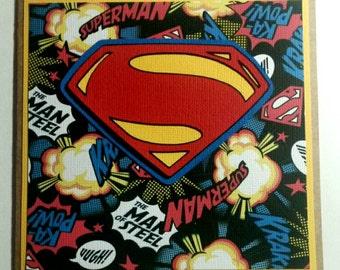 Superman all occasion card, 6x6 square