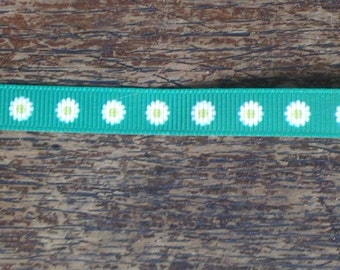 "Daisy ribbon, 3/8"" (10mm) wide, grosgrain, crafting, hair accessory, hair bows, sewing"