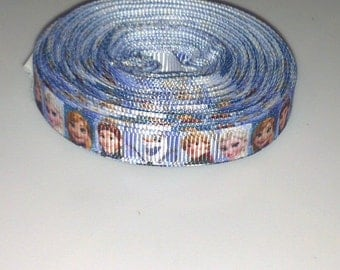 "Frozen,  Elsa, 3/8"" (10mm) wide, grosgrain, crafting, hair accessory, hair bows, sewing"