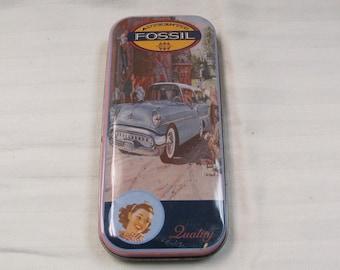 Vintage 1992 Fossil Tin