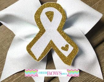 3D Childhood Cancer AWARENESS Bow