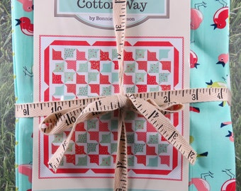 Lazy Days Quilt Kit with backing - Vintage Picnic - Moda - Bonnie Olaveson - Pattern Fabric