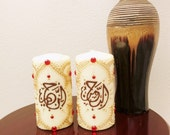 Islamic candles, set of 2 candles, 6 inches tall. Custom made in 5 days!