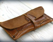 Leather tobacco pouch Handmade patchwork bag hippie trance rock heave metal upcycle recycle