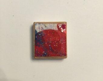Scrabble Pendant - Watercolor 05