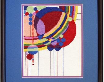 Frank Lloyd Wright March Balloons Cross Stitch Kit