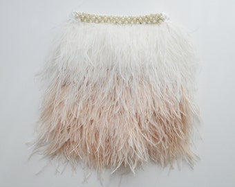Champagne Ombre Feather Skirt