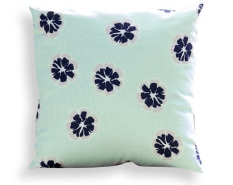 Floral Reversible Pillow Cover in Mint Green - Modern Décor