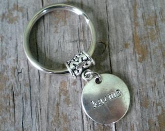 Karma Keychain/Karma Charm Keyring/ Karma  Charm/ Good Luck Keyring/ Karma Jewelry/ Good Karma / Gift For Her/Karma Earrings/ Karma Necklace