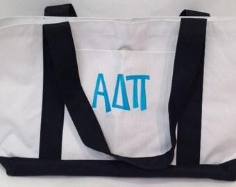 Alpha Delta Pi Fabric Tote Bag