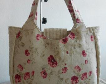 naydeeStudio: Rosellia Shoulder Bag. Tote Bag Pattern and Tutorial. Sewing pattern PDF Pattern and Tutorial