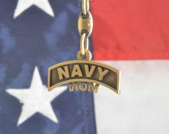US Navy Mom Key Chain