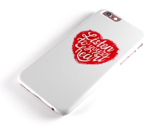 Listen To Your Heart -  iNK-Fuzed Hard Case for the Apple iPhone - Samsung Galaxy & More