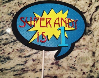 Super Hero Cake Topper