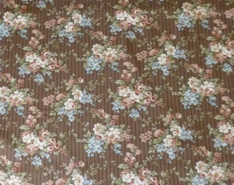 BLOWOUT SALE- Cotton Fabric, Quilt, Home Decor, Floral, Roses, Penelope,Riley Blake,C4411,Fast Shipping,F172