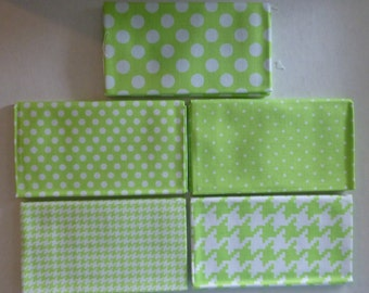 Michael Miller Modern Basics~Ocean~Lt.Green~Geometric~Cotton Fabric,Fat Quarter Bundle of 5~Fast Shipping FQ519