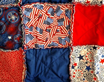 Red, White and Blue Rag Quilt