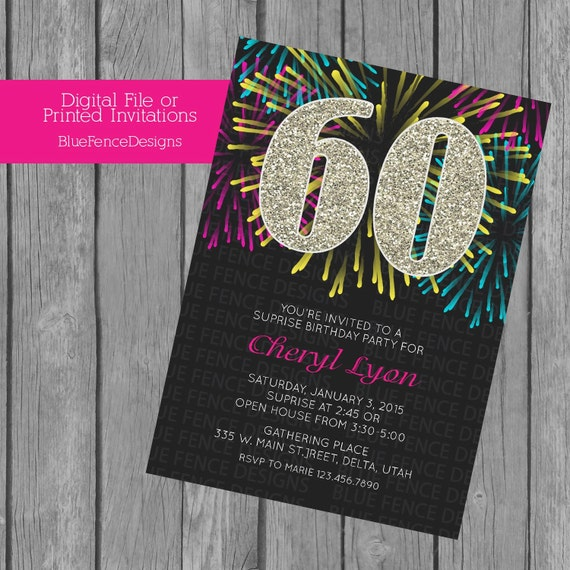 Adult Birthday Party Surprise Invitation Decades Thirty
