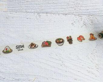 Sushi Washi Tape 15mm