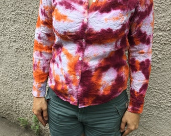 Size Medium - Hand-dyed Tie-dye Shirt Women's Clothing