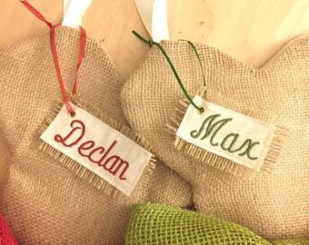 Stocking Name Tag Set of 10