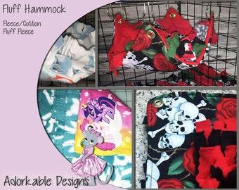 Fluff Hammock - Forage Mat - fringe Hammock - Chinchilla Hammock - Pom Pom Hammock - Sugar Glider Hammock - Cage Acces - Rat Toy - Dog Toy