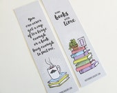 Grey Bookmark Collection (Two bookmarks with quotes about books)
