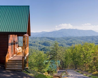 Smoky Mountains Resort Cabin Digital Download Stock Photography - screen saver - computer wallpaper from William Britten