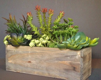 MOST POPULAR! Cedar Wood Succulent Planter Box, Rustic Planter, Wooden Vases, Rustic Decor, Joanna Gaines Decor, Fixer upper