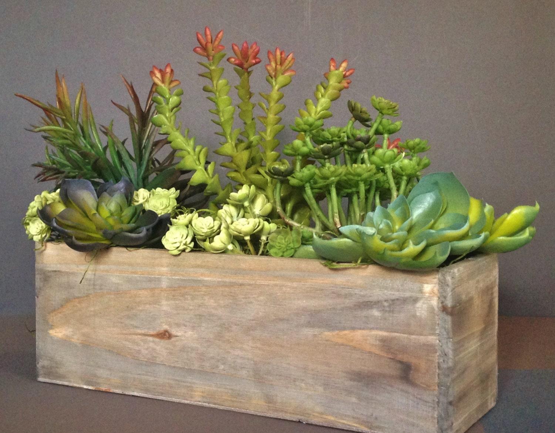 Most popular cedar wood succulent planter box rustic Planters for succulents