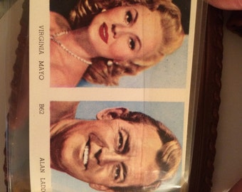 1950s Young Adult 50s Flair Pocket Sized wallet! Featuring Virginia Mayo and Allan Laddo Featuring Retro Stars On Your Bill Fold Retro Purse