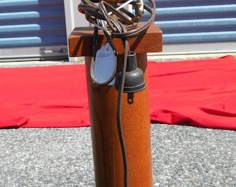 Vintage Solid Oak Mission Style Lamp Wood