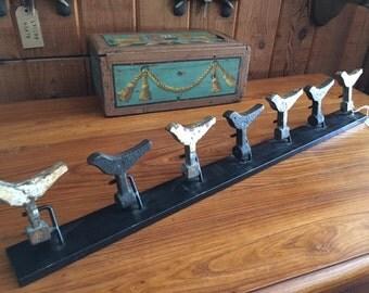 Antique Carnival Target Birds