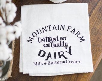 Farmhouse Kitchen Flour Sack Dish Towel