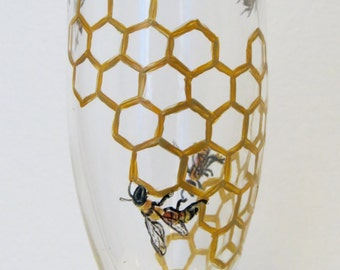 Honey Bee Champagne Flute