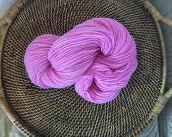 100% Wool Hand Dyed Worsted Weight Yarn - Jocelyn's Rose