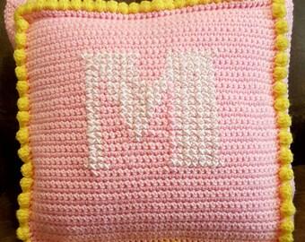 PDF Monogrammed Princess Pillow crochet pattern