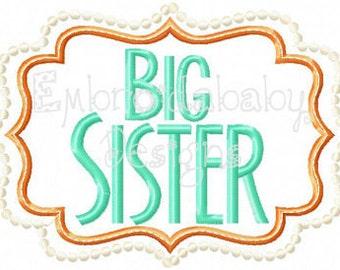 Big Sister, Middle Sister, or Little Sister Framed Shirt/Bodysuit