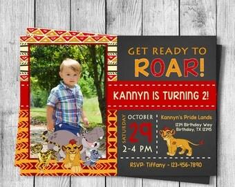 Lion Guard Birthday Party Invitation - 5x7