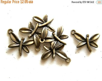 SALE 6 Bronze Butterfly Charms