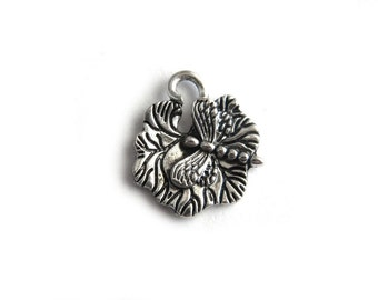 6 Silver Dragonfly Charms
