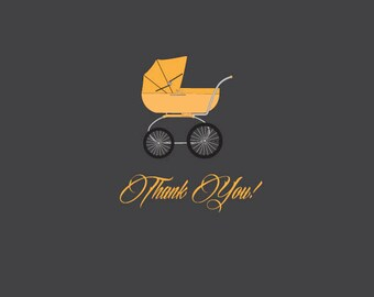 Halloween Themed Baby Shower Thank You Card
