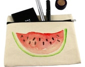 Makeup bag/ cosmetic bag/ pencil case/ watermelon