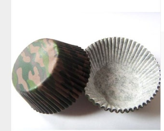 25 Camouflage Cupcake Liners