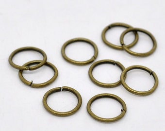 100 - 9mm Bronze Plated Jump Rings