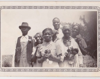 Happy Anniversary Grandparents Vintage African American photograph