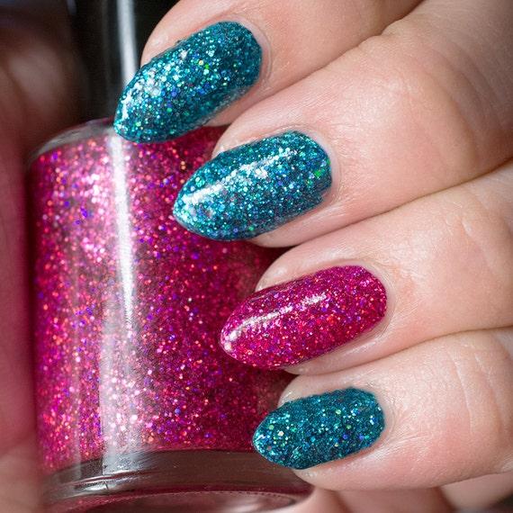 Turquoise Holo Glitter Nail Polish