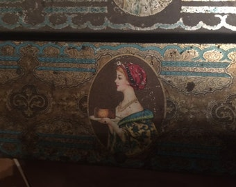 Vintage, Hostess, Fruit Cake, Tin, Good Condition, Some Rust, Advertising Tin