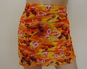 90s Mini Hawaiian Skirt